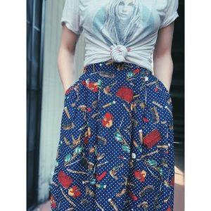 Vintage Pendleton Print Skirt